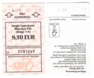 Druckqualität des Fahrschein-Entwerters in Zorneding (Foto: Peter Pernsteiner)