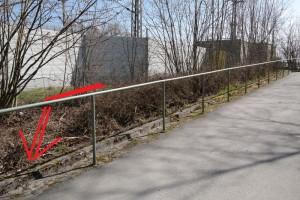 Neuer Zugang vom Parkplatz zur Rampe (Foto: Peter Pernsteiner)