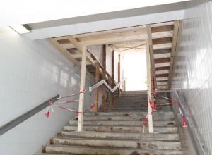 Treppenabgang am Bahnhof Zorneding (Foto: Peter Pernsteiner)
