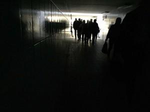 Defekte Beleuchtung am Bahnhof von Zorneding
